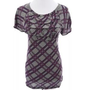 Marc by Marc Jacobs Tiered Ruffled Print Top  Sz M